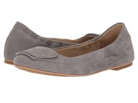 Hush Puppies Livi Heather Frost Grey Suede Women's Flat Shoes Gray