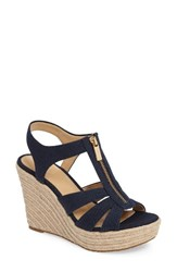 Michael Michael Kors Women's Berkley Platform Wedge Navy Canvas
