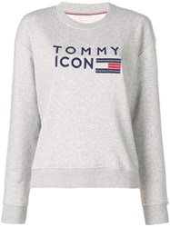 Tommy Hilfiger Icons Embroidered Sweatshirt Grey