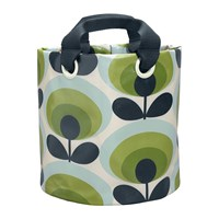 Orla Kiely 70S Flower Fabric Plant Bag Apple Medium