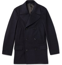 Kingsman Wool And Cashmere Blend Peacoat Navy