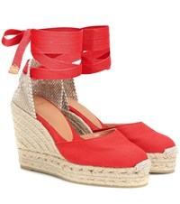 b3d571adc7c Carina Canvas Wedge Espadrilles Red
