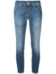 Dondup Cropped Low Rise Skinny Jeans Blue