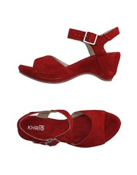 Khrio' Footwear Sandals Women Red