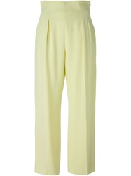 Celine Vintage Wide Leg Trousers Yellow And Orange