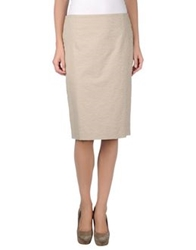 Cappellini Knee Length Skirts Beige