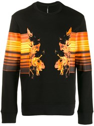Neil Barrett Crew Neck Jumper Black