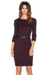 Three Dots Jennifer Dress Wine