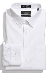 Men's Big And Tall Nordstrom Smartcare Wrinkle Free Trim Fit Solid Pinpoint Dress Shirt White