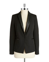 Dex Faux Leather Trim Blazer