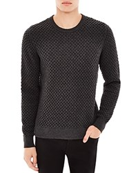 Sandro Electra Honeycomb Heathered Sweater Gris
