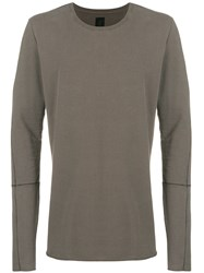Thom Krom Long Sleeve Fitted Sweater Grey