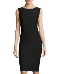 Tahari By Arthur S. Levine Sleeveless Ottoman Sheath Dress Black