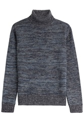 Etro Wool Turtleneck Blue