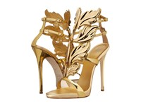Giuseppe Zanotti High Heel Winged Sandal Shooting Oro Women's Shoes Gold
