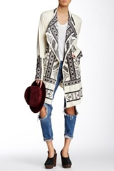 Biya Embroidered Wrap Beige
