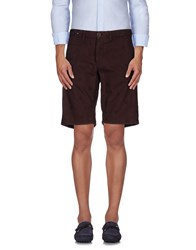 Incotex Red Trousers Bermuda Shorts Men Cocoa