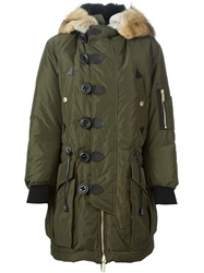 Dsquared2 Hooded Padded Parka Green