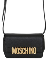 Moschino Logo Lettering Leather Shoulder Bag