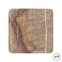 Amara Natural Marble Coasters Set Of 4
