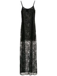 Andrea Bogosian Long Lace Dress Black