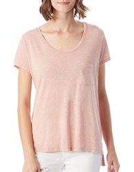 Alternative Apparel Rose Washed Slub Tee Pink