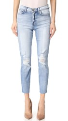 L'agence El Matador French Slim Destrcuted Raw Hem Jeans Dry Ice