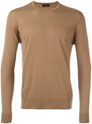 Prada Crew Neck Jumper Brown