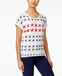 Styleandco. Style And Co. Petite Star Print Sweatshirt Only At Macy's White Heat