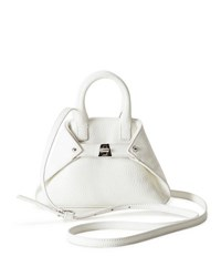 Akris Ai Micro Leather Crossbody Bag White