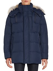 Andrew Marc New York Winslow Coyote Fur Trimmed Down Parka Black