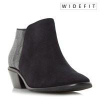 Dune W Parrson Stacked Heel Ankle Boots Black