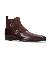 Magnanni Double Buckle Boots Brown