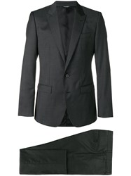 Dolce And Gabbana Perfectly Fitted Suit Grey