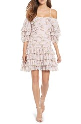 Kas New York Mina Ruffled Cold Shoulder Dress Multi