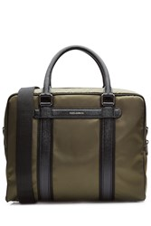 Dolce And Gabbana Briefcase With Leather Trim Green