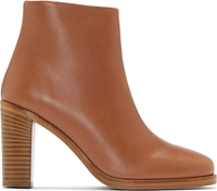 A.P.C. Caramel Leather Chic Boots