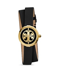 Tory Burch The Reva Double Wrap Watch 28Mm Black