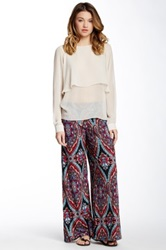 Romeo And Juliet Couture Printed Wide Leg Pant Multi