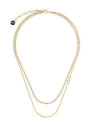 Karl Lagerfeld Double Chain Necklace Gold