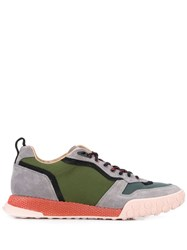 Lanvin Panelled Low Top Sneakers Grey