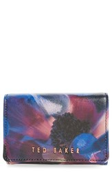 Women's Ted Baker London 'Cosmic Bloom' Floral Print Leather Wallet
