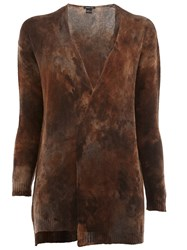 Avant Toi Tie Dye Cardigan Brown