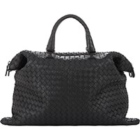 Bottega Veneta Women's Intrecciato Medium Convertible Tote Black Blue Black Blue