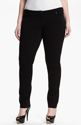 Eileen Fisher Skinny Ponte Knit Pants Plus Black