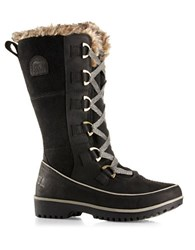 Sorel Tivoli High Ii Premium Leather And Suede Mid Calf Boots Black