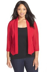 Plus Size Women's City Chic Chiffon Sleeve Blazer Siren