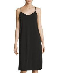 Casual Couture Ladder Back Jersey Slip Dress Charcoal