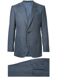Gieves And Hawkes Formal Suit Wool Blue