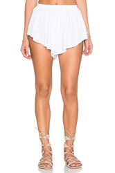 Indah Bee Pleat Short White